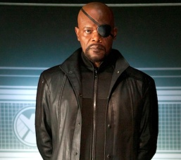 ?Marvel's The Avengers?..Nick Fury (Samuel L. Jackson) is the director of the international peacekeeping organization known as S.H.I.E.L.D in ?Marvel?s The Avengers,? opening in theaters on May 4, 2012.  The Joss Whedon?directed action-adventure is presented by Marvel Studios in association with Paramount Pictures and also stars Robert Downey Jr., Chris Evans, Mark Ruffalo, Chris Hemsworth, Scarlett Johansson and Jeremy Renner...Ph: Zade Rosenthal  ..© 2011 MVLFFLLC.  TM & © 2011 Marvel.  All Rights Reserved.